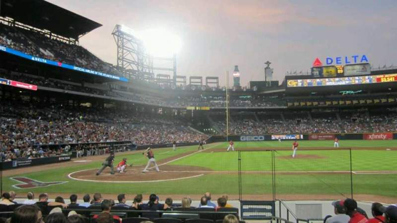Seating view for Turner Field Section 107L Row 9 Seat 101