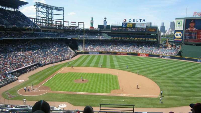 Seating view for Turner Field Section 311L Row 7 Seat 101