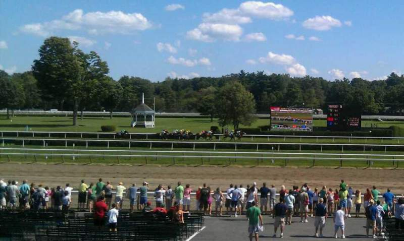 Seating view for Saratoga Race Course Section S Row J Seat 7