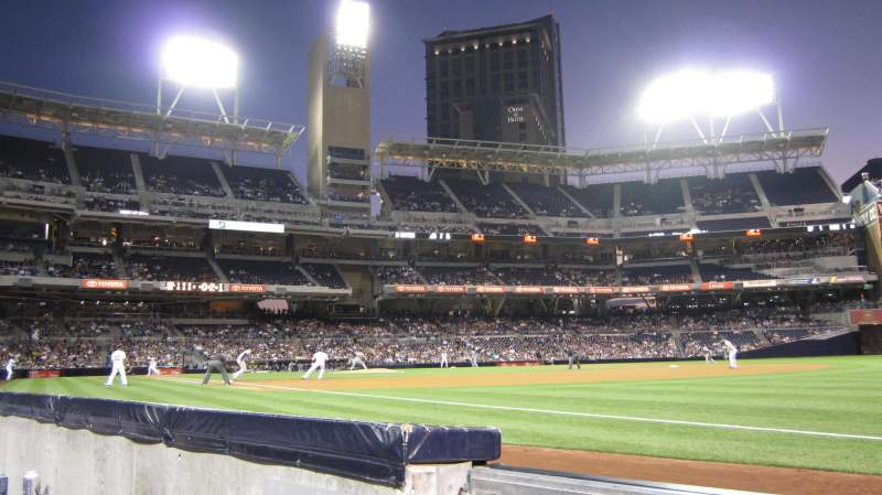 Seating view for PETCO Park Section 117 Row 1 Seat 2