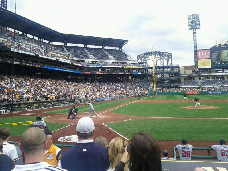Seating view for PNC Park Section 12 Row L Seat 12
