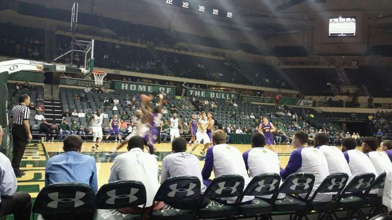 Seating view for USF Sun Dome Section 115 Row A Seat 2