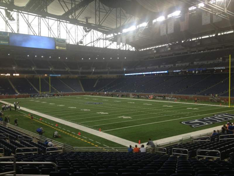 Seating view for Ford Field Section 112 Row 22 Seat 4
