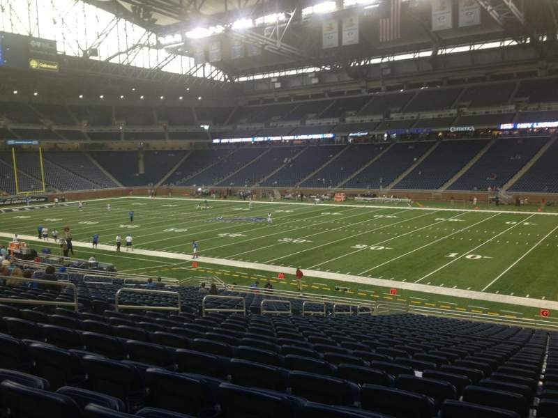 Seating view for Ford Field Section 110 Row 29 Seat 13