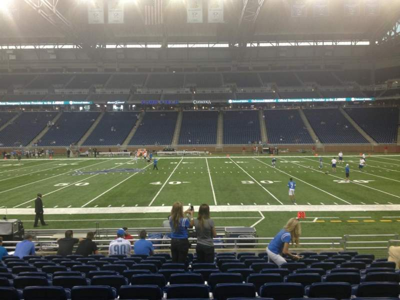 Seating view for Ford Field Section 107 Row 12 Seat 12