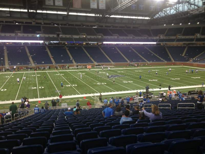 Seating view for Ford Field Section 104 Row 34 Seat 6