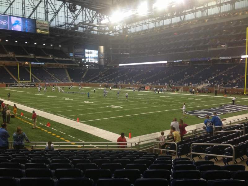 Seating view for Ford Field Section 134 Row 13 Seat 7
