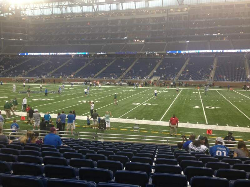 Seating view for Ford Field Section 129 Row 13 Seat 11