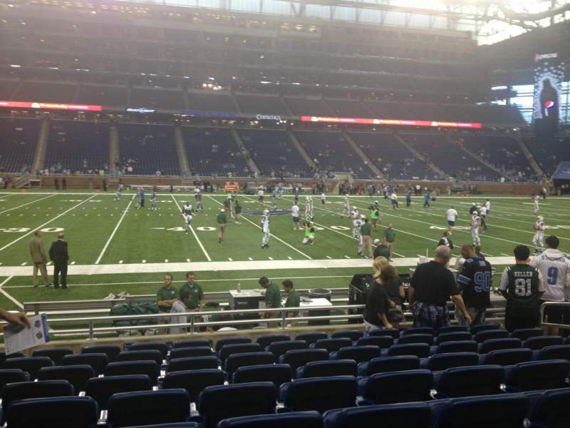 Seating view for Ford Field Section 126 Row 9 Seat 11