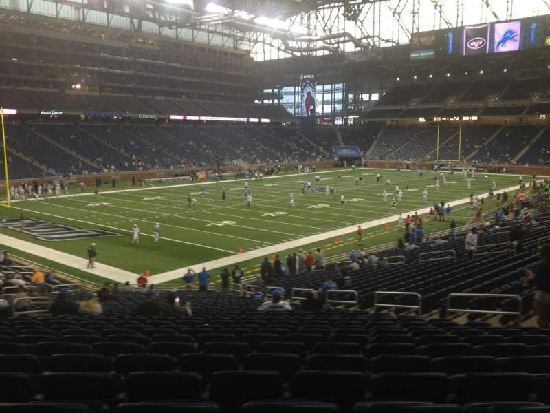 Seating view for Ford Field Section 121 Row 31 Seat 10