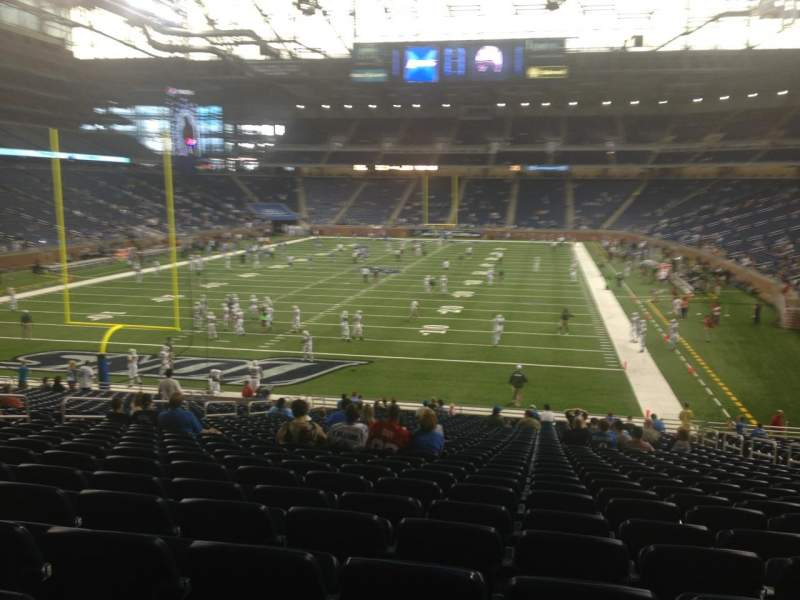 Seating view for Ford Field Section 118 Row 31 Seat 15