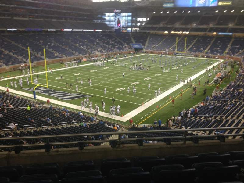 Seating view for Ford Field Section 222 Row 5 Seat 11