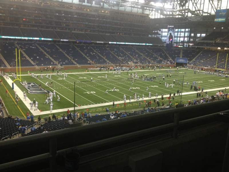 Seating view for Ford Field Section 225 Row 2 Seat 2