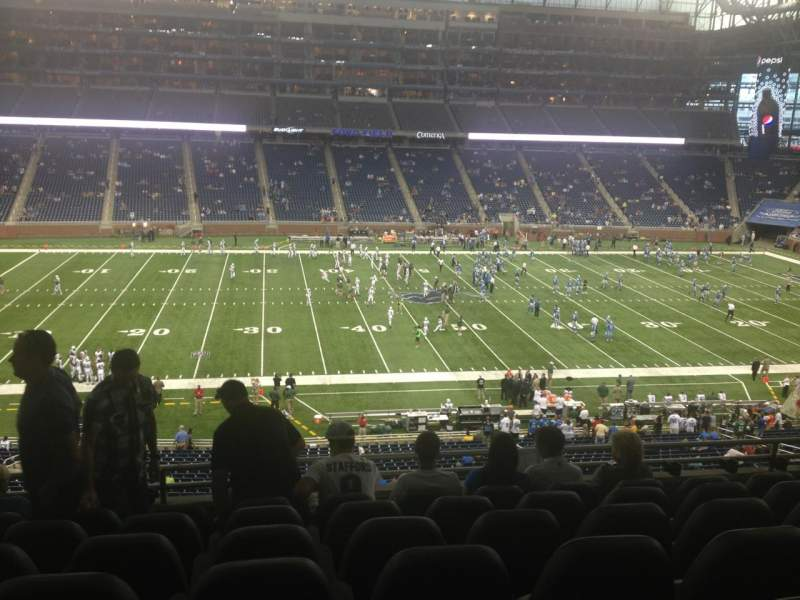 Seating view for Ford Field Section 229 Row 7 Seat 11