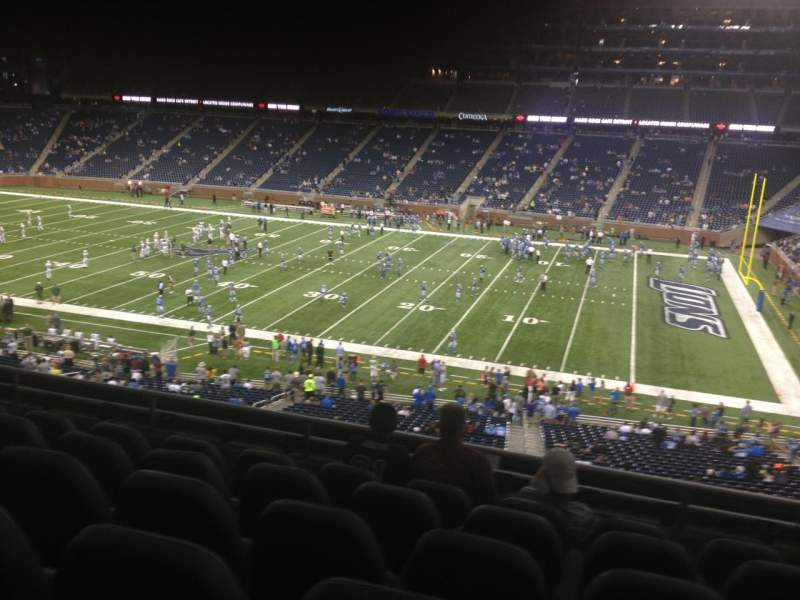 Seating view for Ford Field Section 235 Row 6 Seat 12
