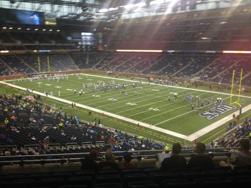 Seating view for Ford Field Section 237 Row 8 Seat 18