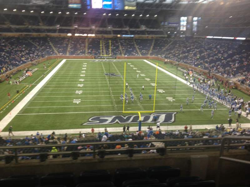 Seating view for Ford Field Section 242 Row 5 Seat 24