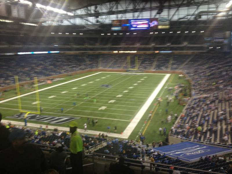 Seating view for Ford Field Section 246 Row 9 Seat 5