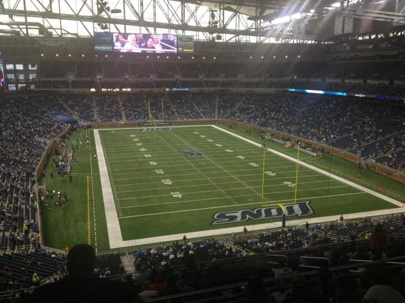 Seating view for Ford Field Section 316 Row 6 Seat 7
