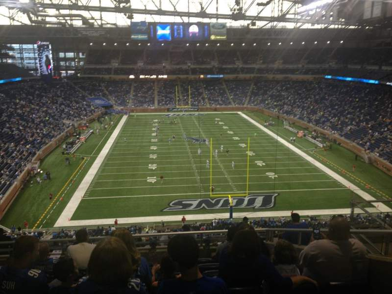 Seating view for Ford Field Section 317 Row 8 Seat 16
