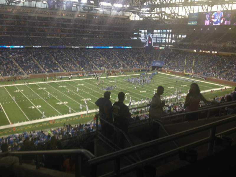 Seating view for Ford Field Section 327 Row 7 Seat 17