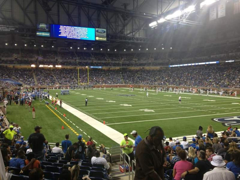 Seating view for Ford Field Section 113 Row 15 Seat 16