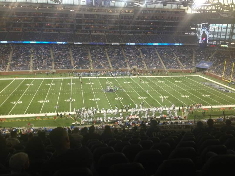Seating view for Ford Field Section 330 Row 7 Seat 10