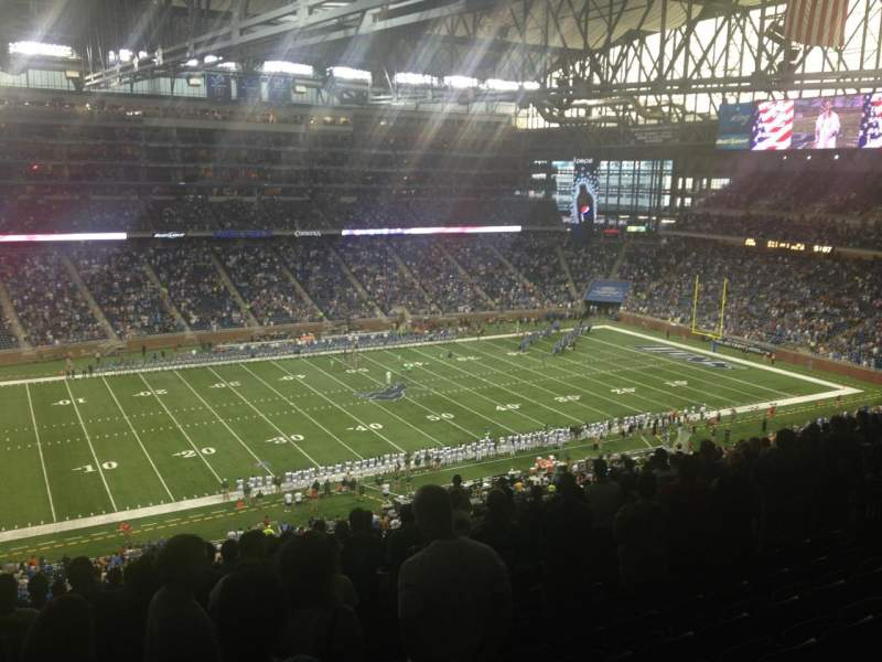 Seating view for Ford Field Section 328 Row 11 Seat 12