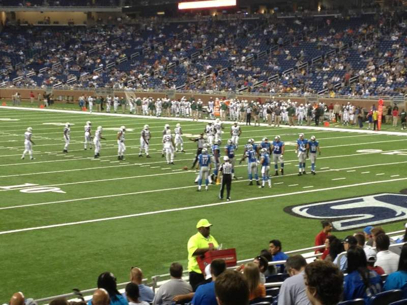 Seating view for Ford Field Section 113 Row 13 Seat 15