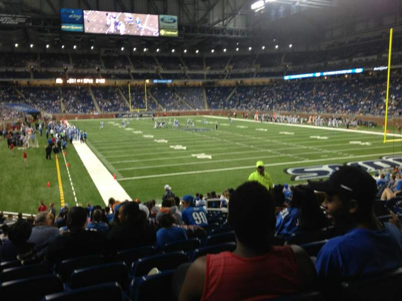 Seating view for Ford Field Section 114 Row 21 Seat 11