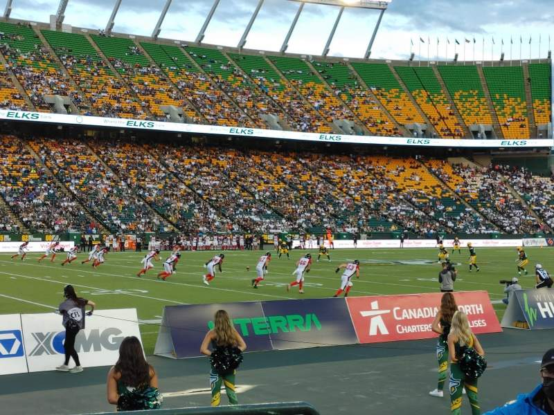 Seating view for Commonwealth Stadium (Edmonton) Section L Row 3 Seat 4