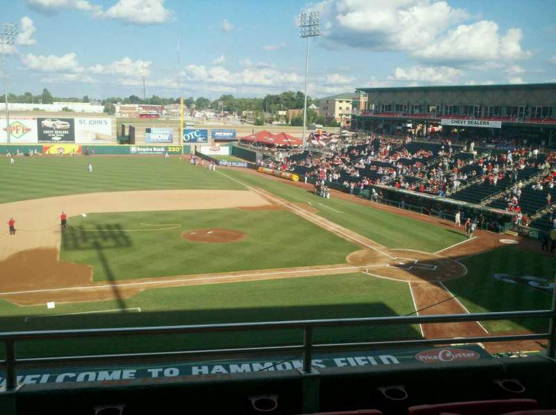 Seating view for Hammons Field Section cc Row 3 Seat 4