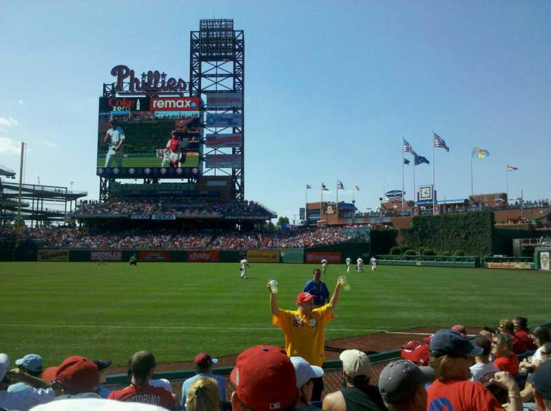 Seating view for Citizens Bank Park Section 111 Row 8 Seat 7