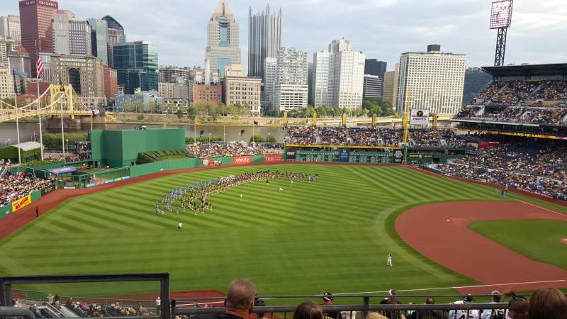 Seating view for PNC Park Section 328 Row D Seat 16