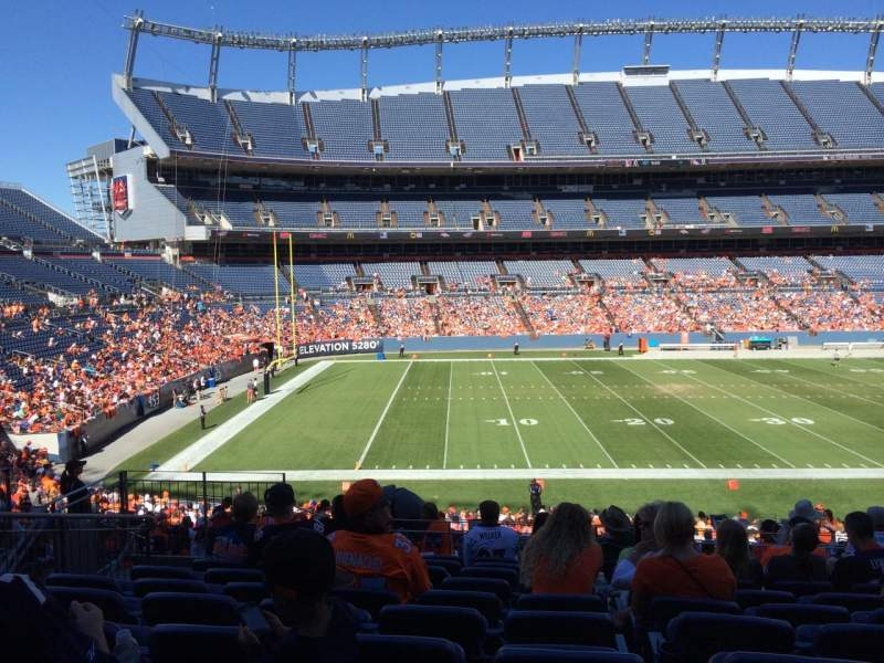 Seating view for Sports Authority Field at Mile High Section 126 Row 33 Seat 14