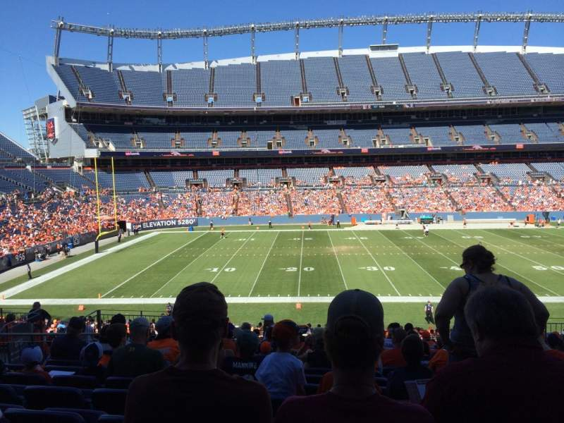 Seating view for Sports Authority Field at Mile High Section 125 Row 36 Seat 13