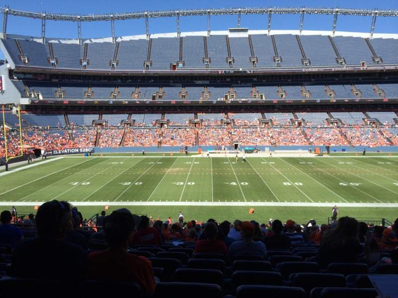 Seating view for Sports Authority Field at Mile High Section 124 Row 39 Seat 13
