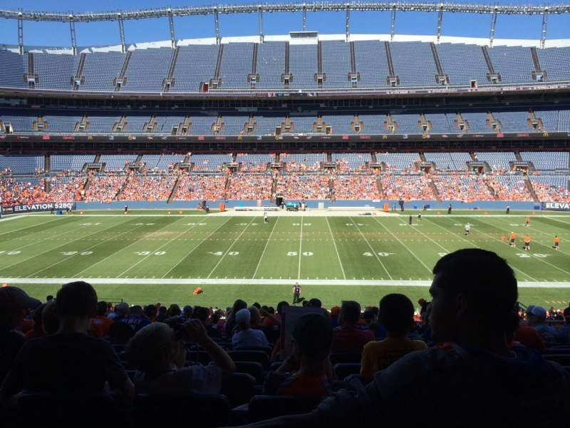 Seating view for Sports Authority Field at Mile High Section 123 Row 40 Seat 13