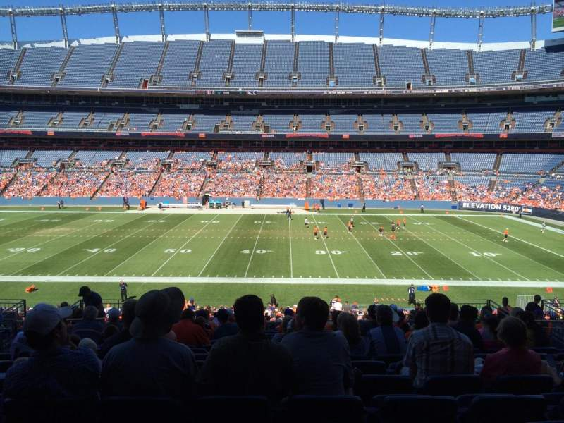 Seating view for Sports Authority Field at Mile High Section 122 Row  39 Seat 13