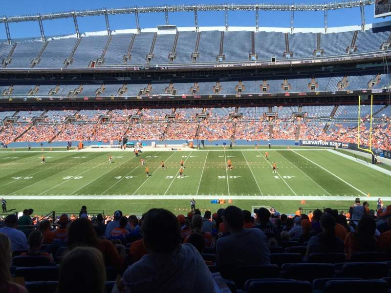 Seating view for Sports Authority Field at Mile High Section 121 Row 38 Seat 13