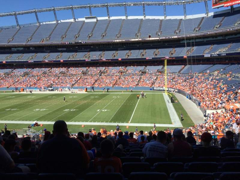 Seating view for Sports Authority Field at Mile High Section 119 Row 39 Seat 13