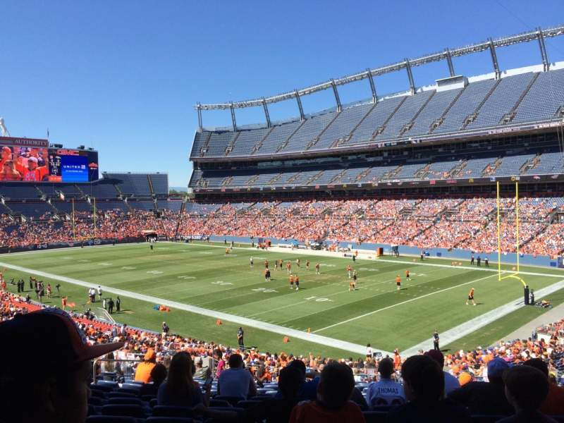 Seating view for Sports Authority Field at Mile High Section 118 Row 39 Seat 21