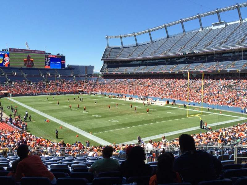 Seating view for Sports Authority Field at Mile High Section 117 Row 39 Seat 28