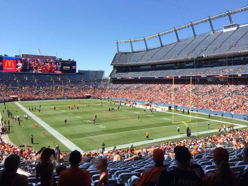 Seating view for Sports Authority Field at Mile High Section 117 Row 39