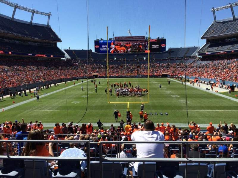 Seating view for Sports Authority Field at Mile High Section 114 Row 25 Seat 8