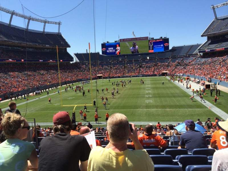 Seating view for Sports Authority Field at Mile High Section 113 Row 30 Seat 9