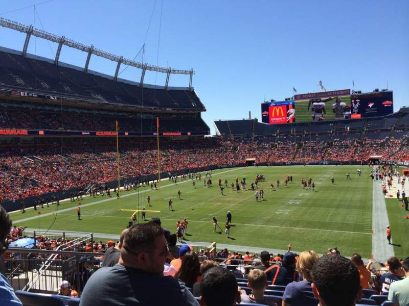 Seating view for Sports Authority Field at Mile High Section 112 Row 33 Seat 13