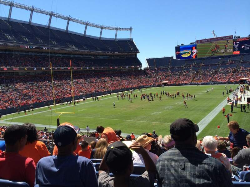 Seating view for Sports Authority Field at Mile High Section 111 Row 32 Seat 29
