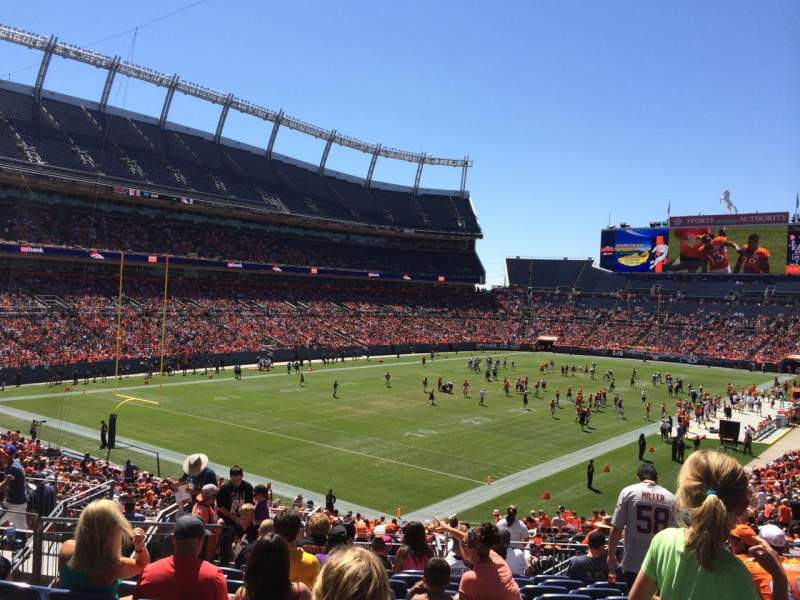 Seating view for Sports Authority Field at Mile High Section 111 Row 36 Seat 8