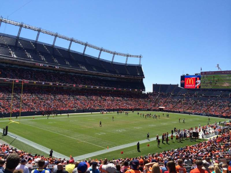 Seating view for Sports Authority Field at Mile High Section 110 Row 35 Seat 44